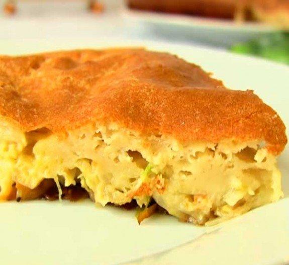Пирог с начинкой на кефире рецепт