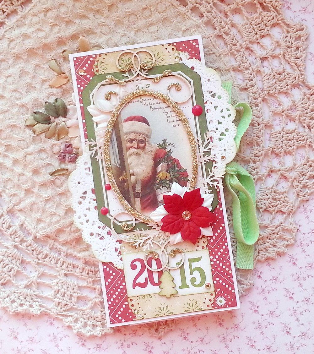 Новогодние открытки в скрапбукинга своими руками