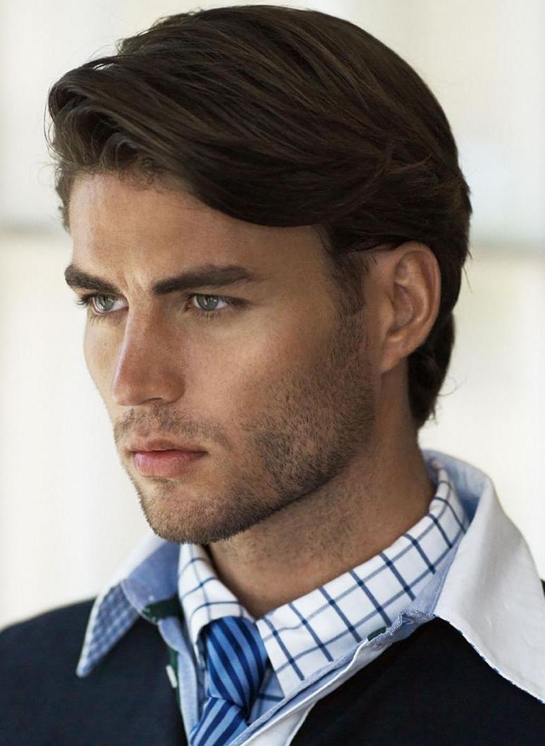 Прически для средней длины волос для мужчин
