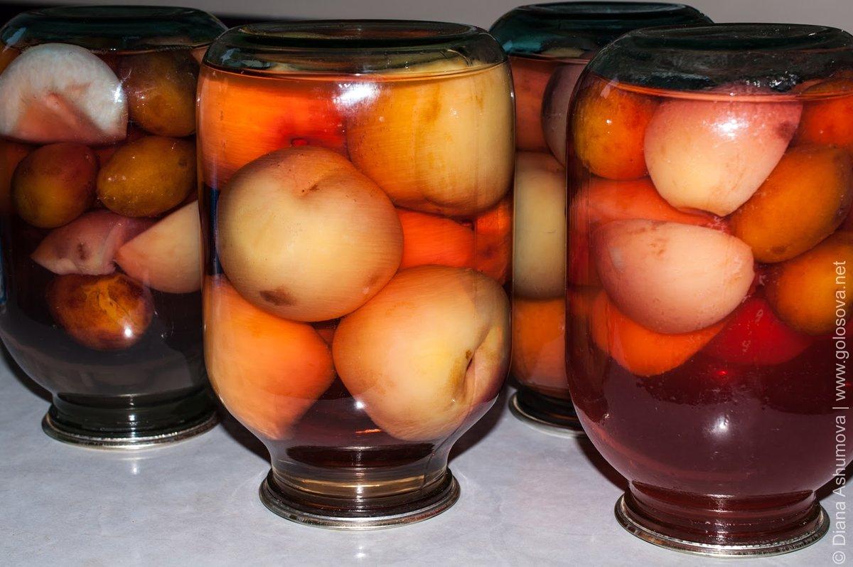 Персики в собственном соку на зиму пошагово