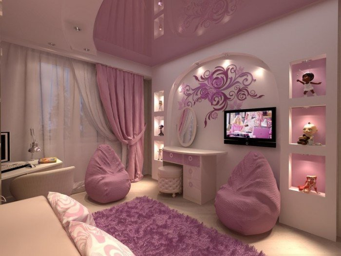 Спальни дизайн для девочки - Спальня для девочки - 100 вариантов на любой вкус Продумайте