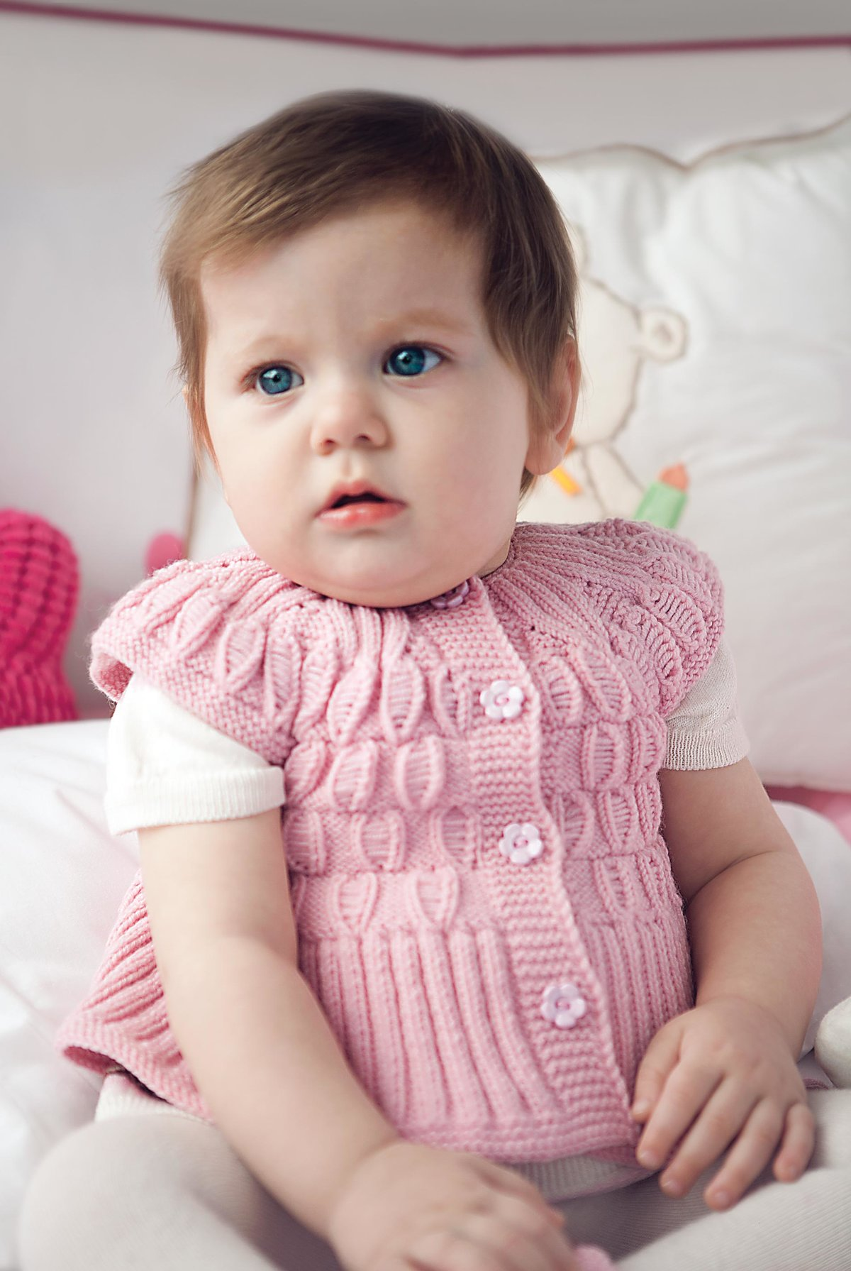 Рукоделие вязание спицами для девочки до года7