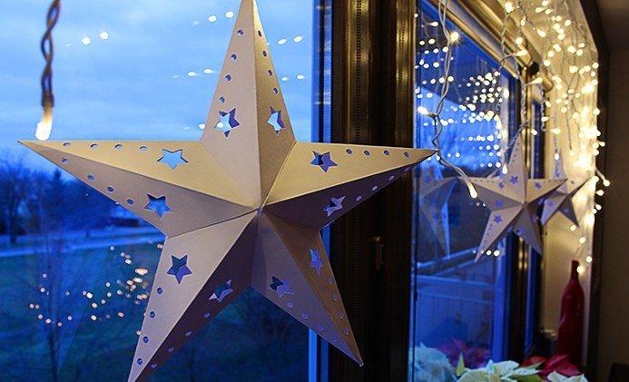 Как на новый год сделать звезду из бумаги объемную
