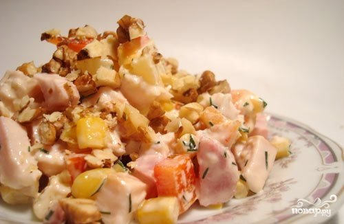 Салат каприз рецепт с из курицы