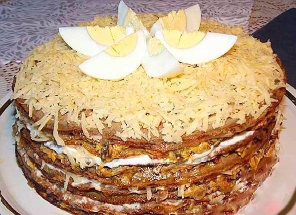 Печеночный торт со сметаной рецепт с пошагово