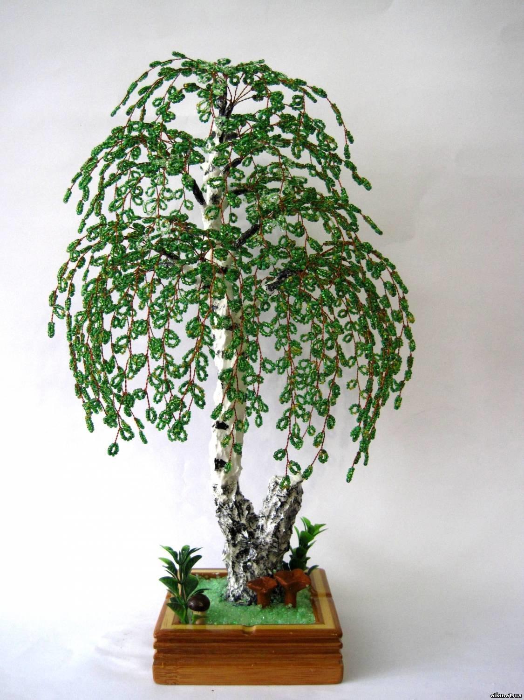 Зимняя дерево из бисера мастер класс с пошаговым фото