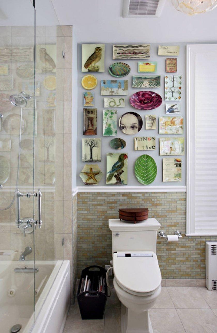 Стена в ванной своими руками