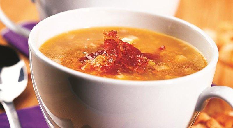 Рецепт горохового супа с копченостями пошаговый с