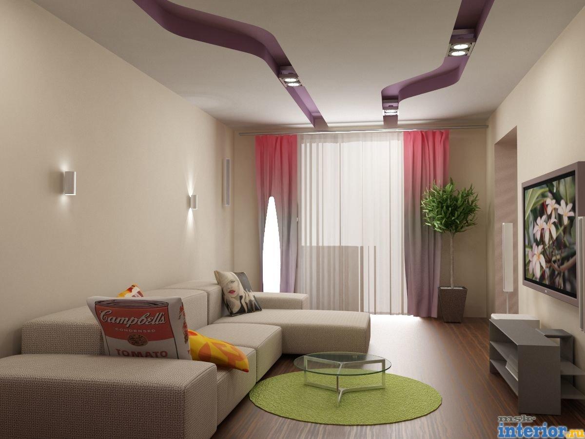 Самый простой дизайн гостиной