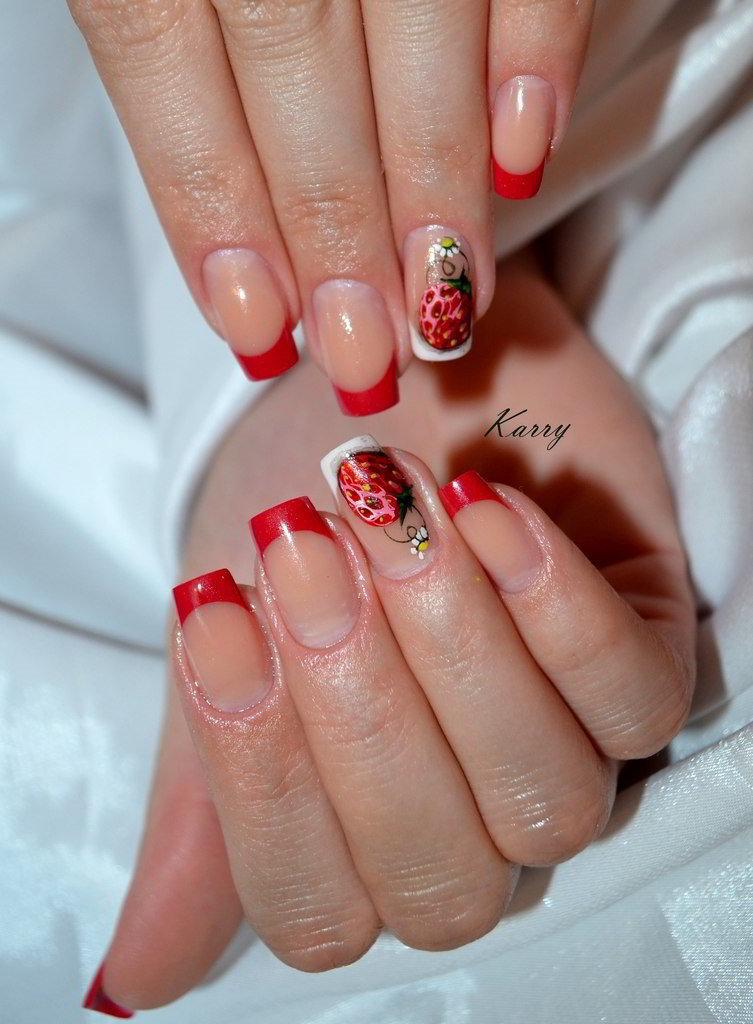 Современный дизайн ногтей френч