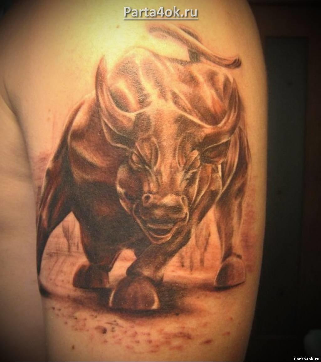Татуировка бык - значение, эскизы
