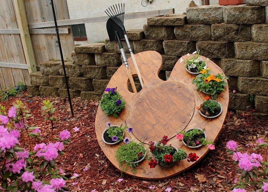 Как своими руками сделать декор в саду 60