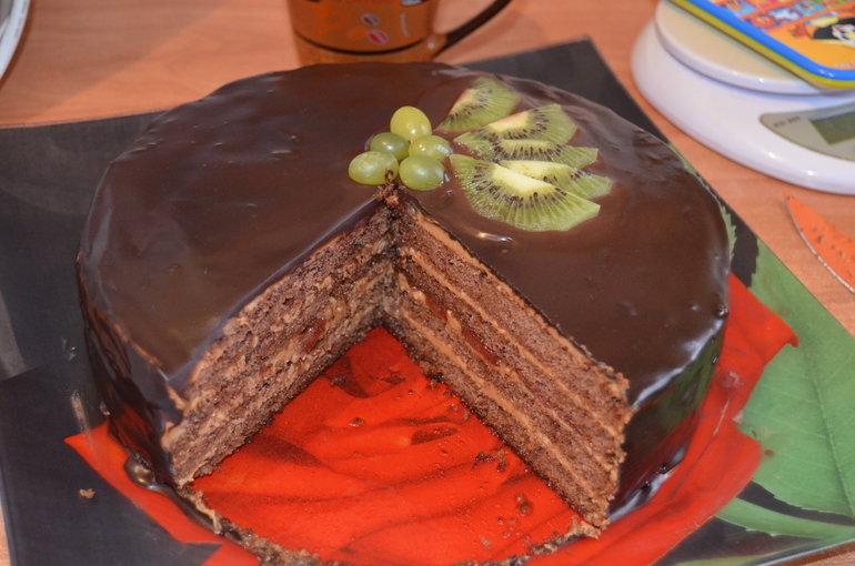 Торт шоколадный бисквитный рецепт с фото