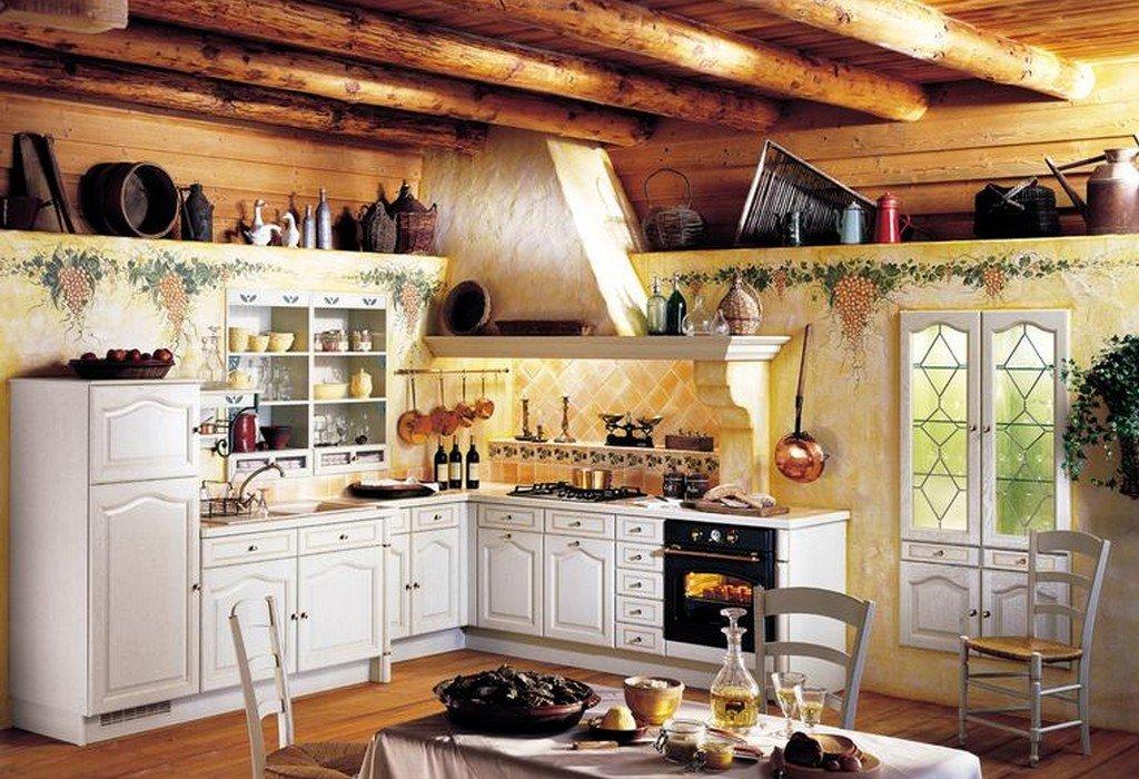 Интерьер сельской кухни фото