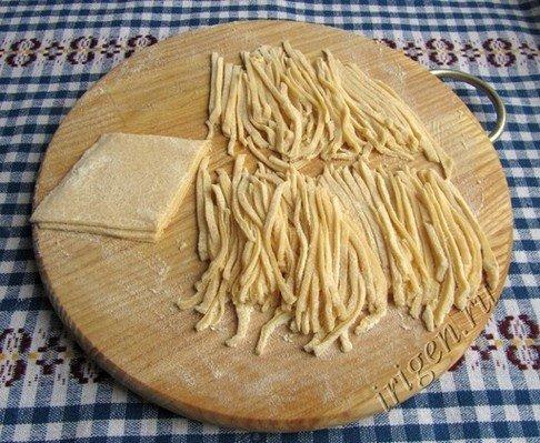 Как сделать пасту из теста 575