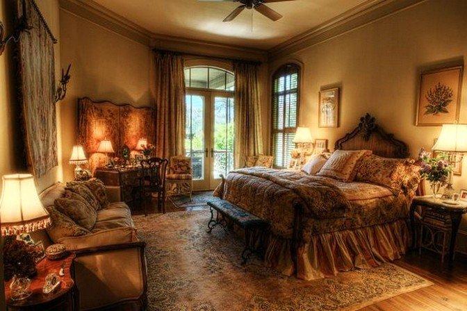 Спальня в стиле ретро  фото