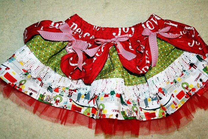 Многослойная юбка для девочки своими руками 57