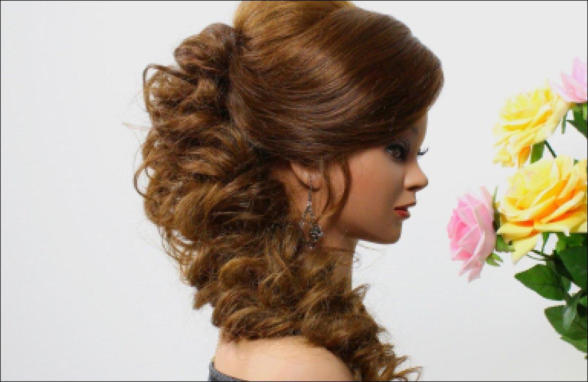 Прически на средний волос на праздник