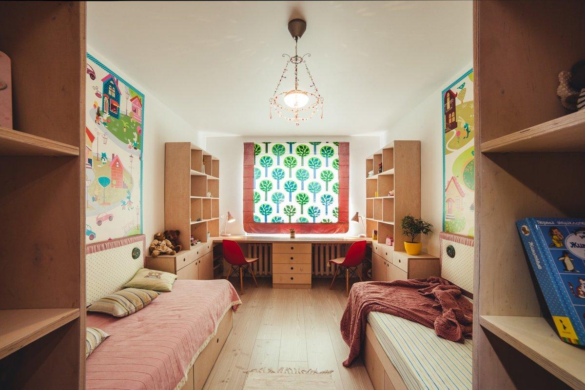 Интерьер для двоих детей в комнате фото
