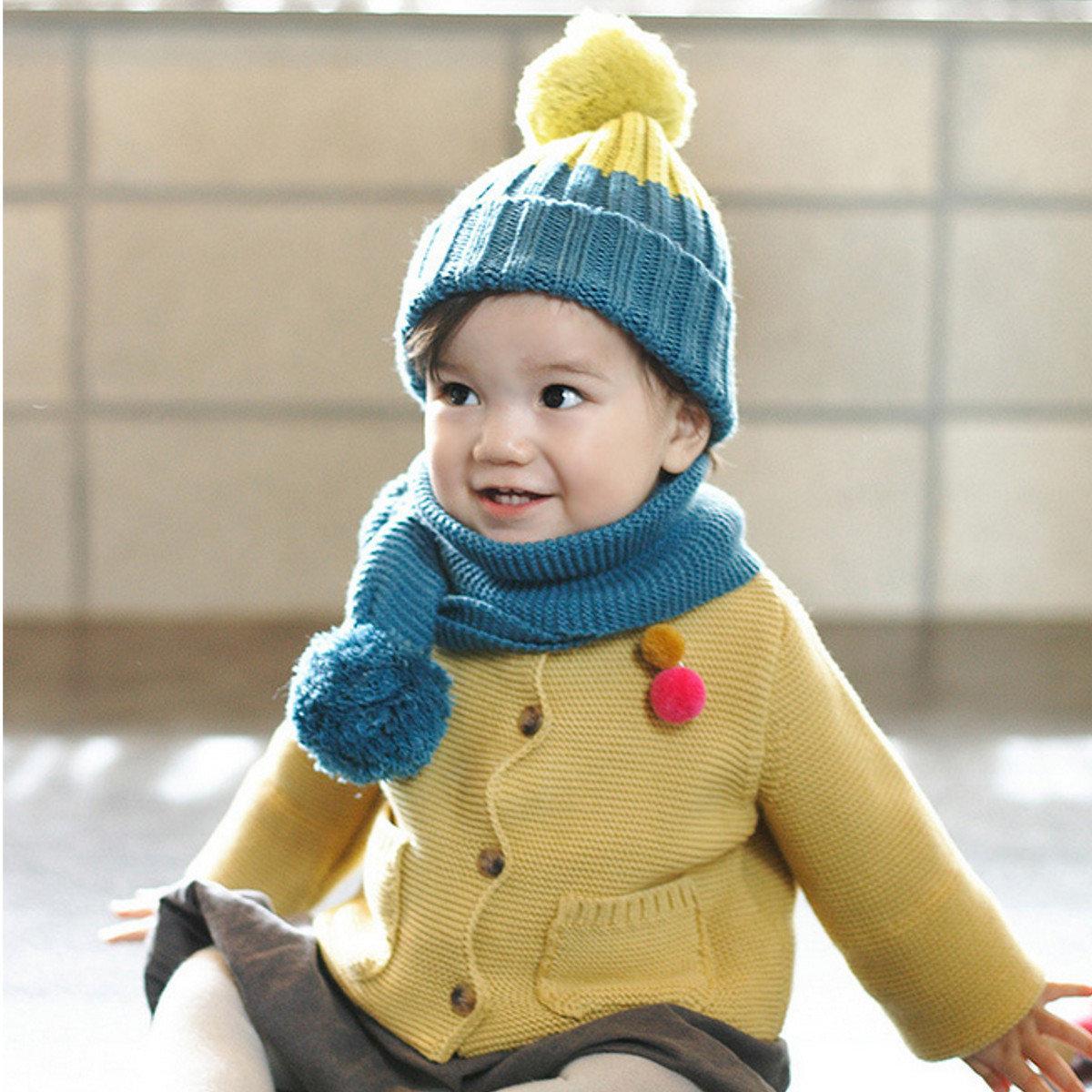 Детская зимняя шапка с ушками Вяжем 8
