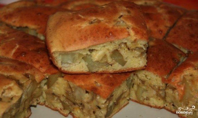 Пироги с картошкой и грибами в духовкеы с фото