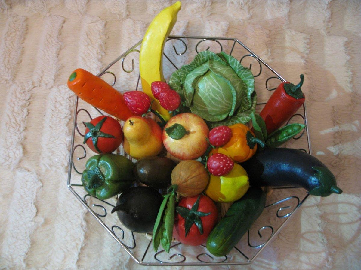 Поделки овощей фруктов своими руками фото