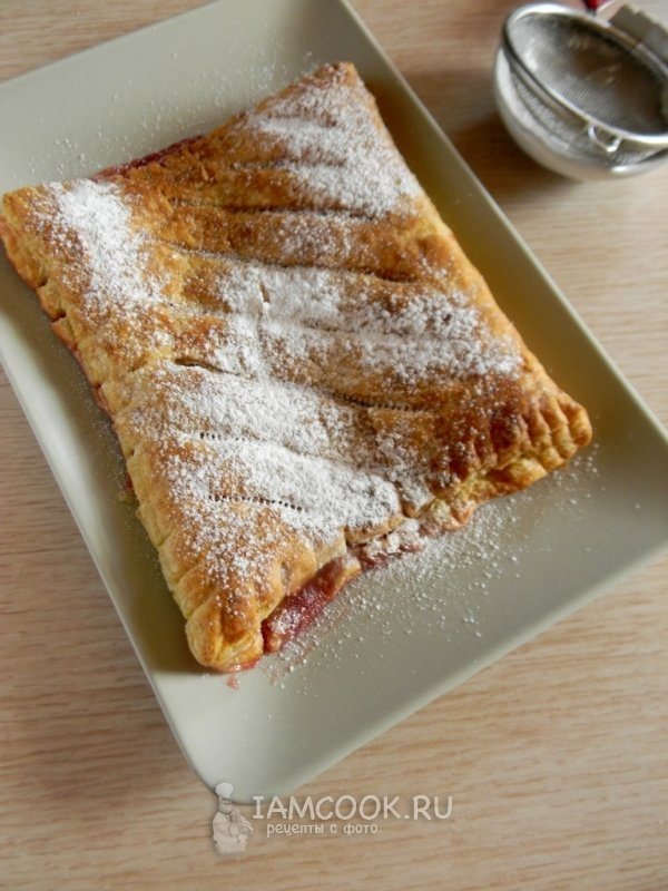 Пироги из слоёного тестаы с фото сладкие
