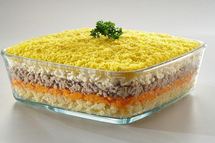 Мимоза рецепт классический с сыром пошаговый рецепт с фото