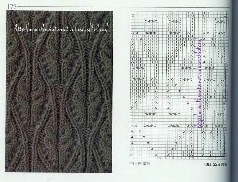 Вязание спицами узоры схемы японские схемы 93