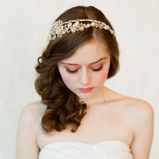 свадебные прически c aksesuari