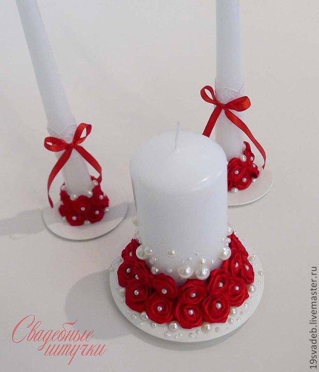 Украшение свадебных свеч своими руками 281
