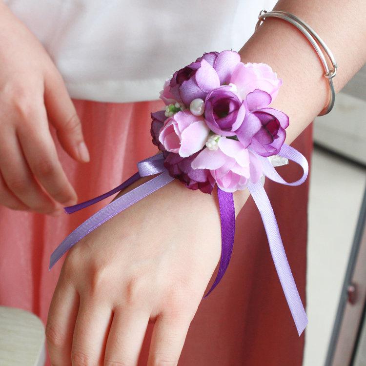Цветы на руку своими руками для подружек невесты 488