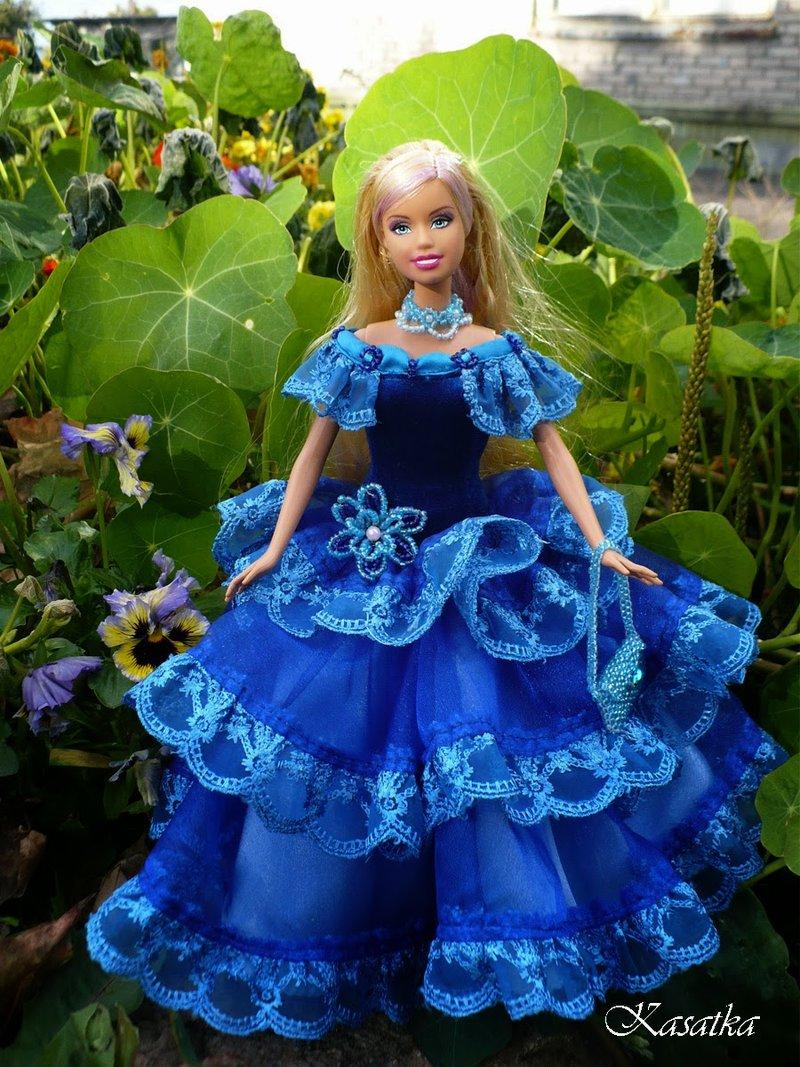 Как сделать из ленты платья для кукол
