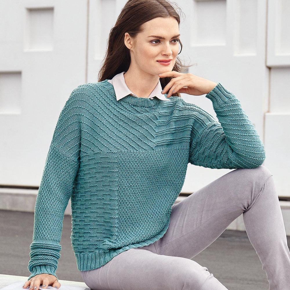 Узоры вязания свитера женского 731