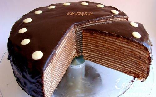 Блинный торт рецепт с шоколадом