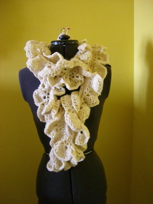 Вязание крючком шарфы фото