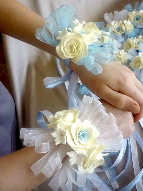 Бутоньерки для подружек невесты своими руками мастер класс 84
