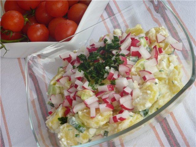 Салат из редиски калорийность