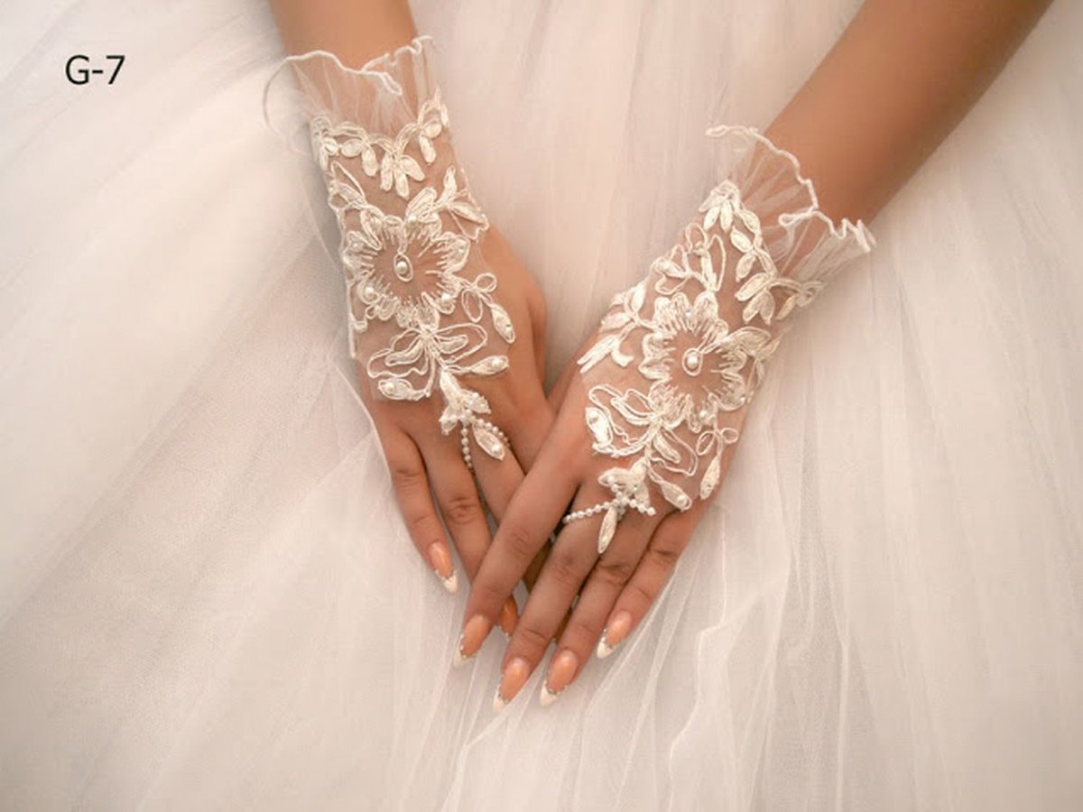 Перчатки к свадебному платью своими руками