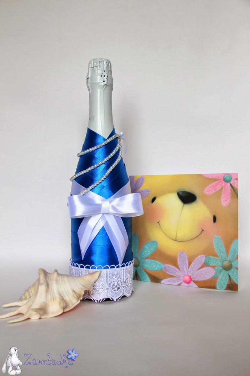 Декор бутылок лентами - карточка от пользователя Ира Генова в Яндекс.Коллекциях