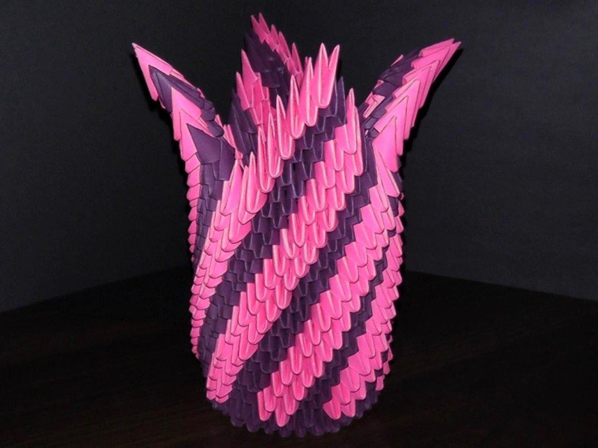 Поделки из модулей ваза большая