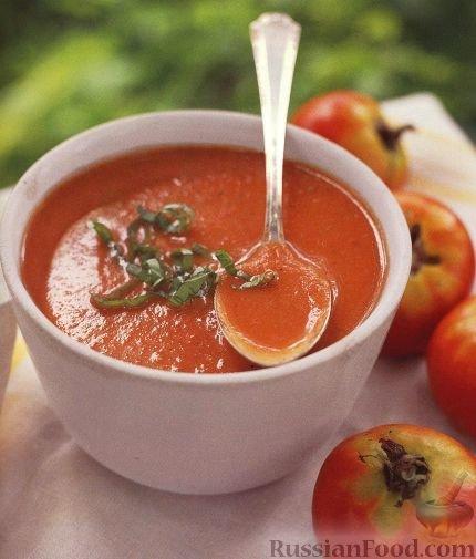 Томатный суп из свежих помидоров рецепт