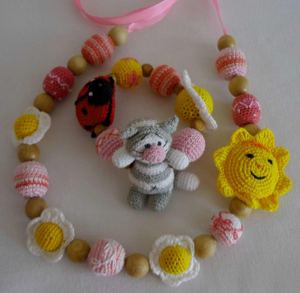 Вязаные бусы для ребенка своими руками