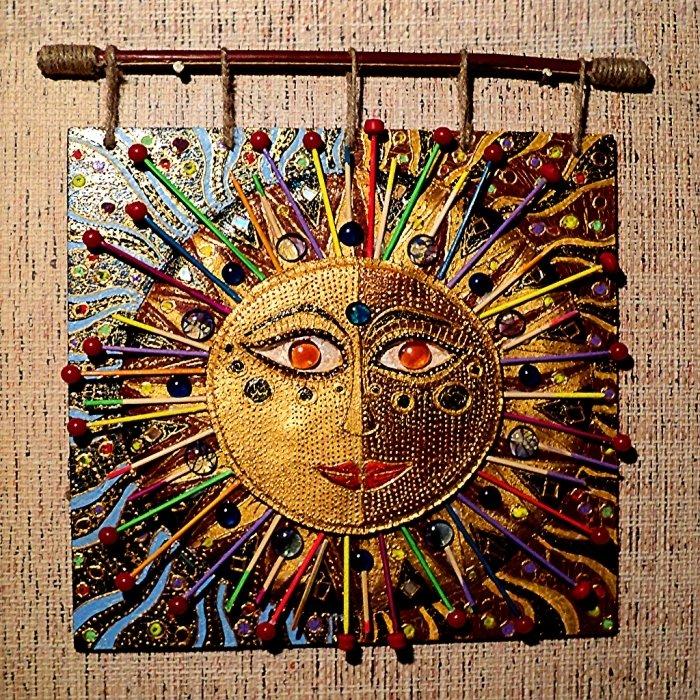Панно своими руками солнце 29