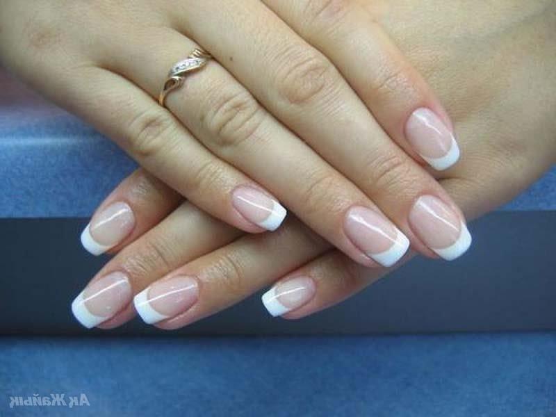 Свадебный маникюр на свои ногти