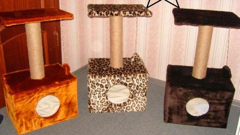 Как своими руками сделать когтеточку с домиком для кошки своими руками 11