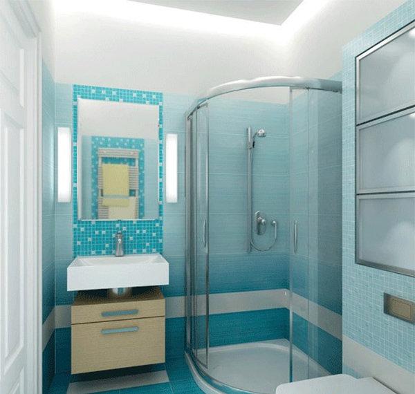 Душевая комната маленькая дизайн