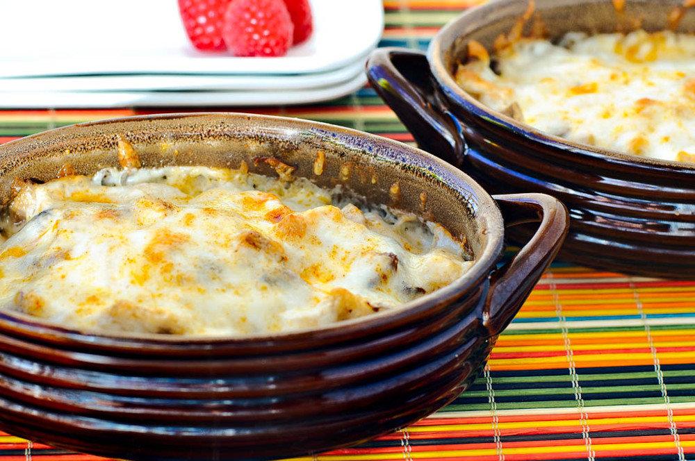 Рецепт жульена с курицей и грибами в духовке со сливками рецепт с пошагово 197