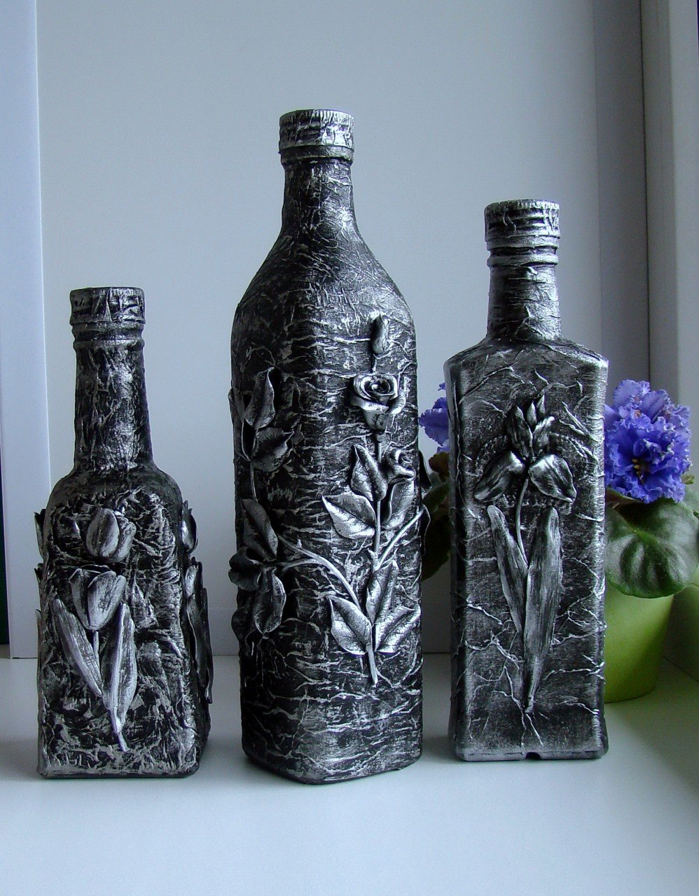 Декор бутылок своими руками мастер 56