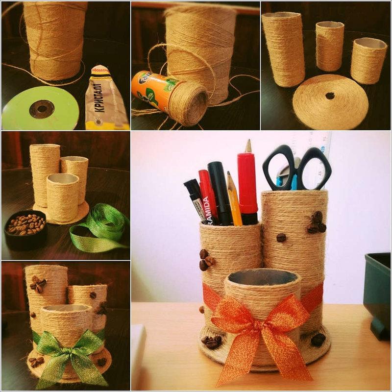 Полезные поделки из подручных материалов для дома своими руками